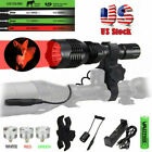 Green Red White LED Beam Hunting Light Spotlight Hog Predator Flashlight Mount