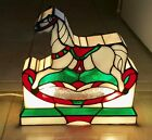 STAINED GLASS ROCKING HORSE LAMP NEW ESTATE PIECE