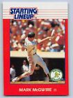 1988 MARK McGWIRE Kenner Starting Lineup Baseball Card - OAKLAND ATHLETICS