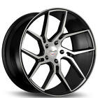 4ea 20 Staggered Gianelle Wheels Dilijan Gloss Black Machined RimsS43