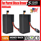 2X 4AH 11V Lithium ion Polymer Rechargeable Battery For Parrot Disco FPV Drone