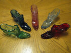 5 Fenton Glass Boot Slipper Shoes Rose Cabbage Pattern