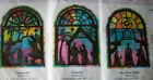 3 Nativity Christmas fusible black fabric pre cut appliques for decor quilting