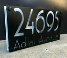 Metal 14 Wide Vintage Two Layer Address Sign Custom Personalize Plasma Cut Sign