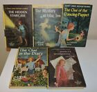 5 VINTAGE NANCY DREW PICTURE COVER HARD BACK BOOKS