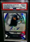 PSA 9 2010 Bowman Sterling CHRISTIAN YELICH Rookie AUTO REFRACTOR Baseball Card