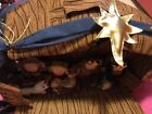 Dan Dee Childrens Nativity set in carrying case fabric with removable figures