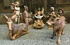 Vintage 5 Fontanini Depose Italy Nativity Scene Set Lot of 10 Pieces