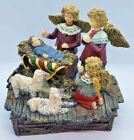 Susan Winget Angels Nativity LARGE HEAVY Religious Christmas Figurine Vtg 1998