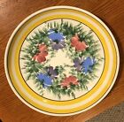 Vintage Gary Valenti Brooklyn Hand Painted 12 Serving Platter Made in Italy