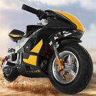 Mini Gas Power Pocket Bike Motorcycle 49cc 4 Stroke Engine For Kids And Teens US