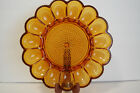 Vintage Deviled Egg Plate Tray Indiana Glass Amber Carnival Hobnail 11 1 4