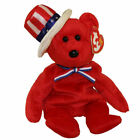 TY Beanie Baby - SAM the Bear (Red Version) (9 inch) - MWMTs Stuffed Animal Toy