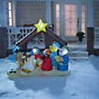 78 Outdoor Blow Up Inflatable Light Up Nativity Scene