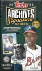 2020 TOPPS ARCHIVES SIGNATURE SERIES RETIRED EDITION FACTORY SEALED HOBBY BOX