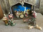 VINTAGE 1971 SEARS 15 PIECE LIGHTED MUSICAL NATIVITY SET MADE IN JAPAN