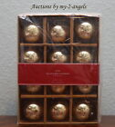 S 12 NEW Pottery Barn ANTIQUE MERCURY GLASS BALL ORNAMENTS GOLD 2 Christmas