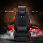 Fly5D Universal PU Leather Car Seat Cover Protect Sit Cushion Interior Parts Set