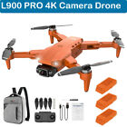 L900 PRO Foldable 4K Camera Drone Brushless WIFI FPV GPS Quadcopter 1200m Remote