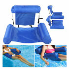 Foldable Water Floating Deck Chair Inflatable Row Rafting Bed Sofa Swim Pool Set