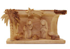 Olive Wood Nativity Christmas Ornament Nativity Set Cave
