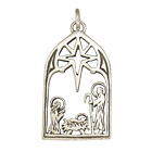 Bracelet Charm Nativity Scene 925 Sterling Silver Handcrafted In The USA
