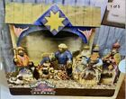 2004 JIM SHORE MINI HEARTWOOD CREEK NATIVITY SET MANGER ENESCO 10 PCS New In Box