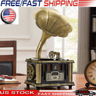 Vintage Mini Gramophone Bluetooth USB Player Classic Phonograph HIFI U1L7