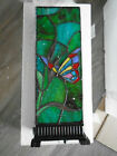 Wind  Weather Stained Glass Butterfly Box Table Lamp With Jewels 17 New