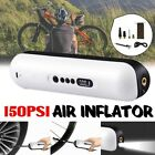 12V Portable Wireless Air Pump Electric Car Bicycle Tire Inflator With Battery