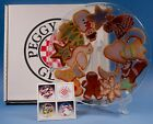 Peggy Karr Fused Art Glass Christmas Gingerbread Cookies Plate Signed 8 in Box
