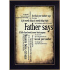 Father Says by Susan Ball Printed Framed Wall Art