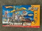 P7613 Vintage Hot Wheels Spin Wrecker Trick Tracks Stunts w Car NIB Mint Sealed