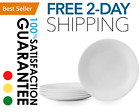 FREE  FAST SHIPPING 6 Pack NEW Winter Frost Lunch Plates White 85 216 cm