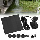 Solar Power Fountain Pool Water Pump Panel Garden Plants Watering Kit 200L h US