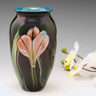 Richard Satava Art Glass Iris Flowers Vase