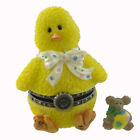 Boyds Bears Resin LILY'S CHICK EGGBERT MCNIBBLE Polyresin Treasure Box Easter
