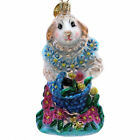 Christopher Radko DAISY LEI Glass Easter Bunny Flowers