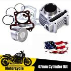 US Stock 47mm Big Bore Cylinder with Accessories Replacement Kit for GY6 Moped