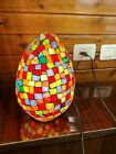 Glass Lamp Multi Color Night Decor Light Electric Shade Modern Table Egg Fixture