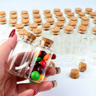 48x Clear Mini Glass Bottles with Cork Stoppers Small Glass Jars Vials Wedding