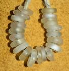 Antique European Mandrel Wound White Glass Beads Collected From African Trade