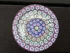 JOHN DEACONS Glass Scotland Concentric Millefiori PAPERWEIGHT Thistle Cane 26