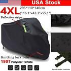XXXXL Motorcycle Cover Moped All Weather Dust Rain Snow UV Outdoor Protection US