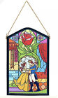 2021 Disney Parks Beauty And The Beast Stained Glass Replica Hanging Wall Art