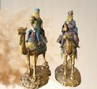 Bombay Company Pair Vintage Nativity Scene Kings Wiseman On Camels