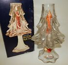 Vintage Vetreria Etrusca Italy Glass Christmas Tree Candle Holder Decanter
