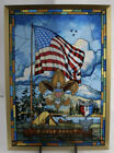 Eagle Scout American Flag Stained Glass Window Suncatcher Jack Woodson BSA 9X13