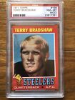 1971 Topps #156 Terry Bradshaw ROOKIE RC PSA 8 (OC) NM-MT Steelers
