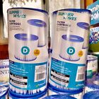 Summer Waves TYPE D Filter Pool Pump Filter Cartridge Set Of 4 SHIPS NOW